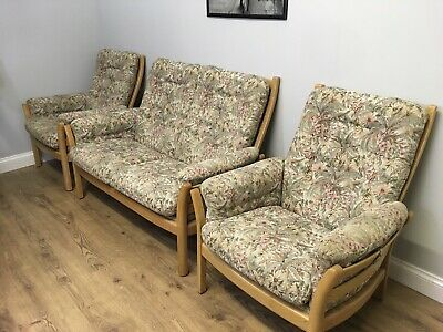 Ercol 3 Piece Suite 2 Seater Sofa Footstool And 2 Chairs Delivery Available