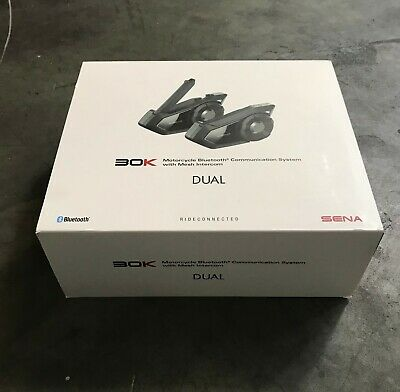 Sena 30K Dual Motorcycle Bluetooth Communication System w/ Mesh Intercom 30K-01D