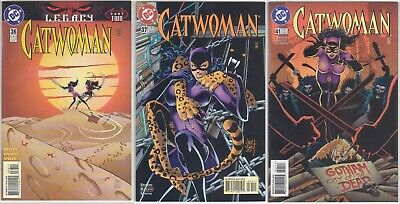 Catwoman comic (vol.2) #36, 37 & 41 (1996/97) - NM (Legacy tie-in)