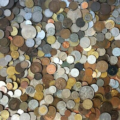 COIN COLLECTION, Mixed Job Lot World Coins Diverse Countries 0.5kg - 1kg - 1.5kg