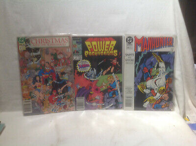Dc/Marvel Comics-Christmas With Super-Heroes,Power Pachyderms,Manhunter-3 Books