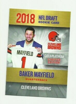 2018 Gold Platinum Limited Edition Cleveland Browns Baker Mayfield Rc Nm-Mt