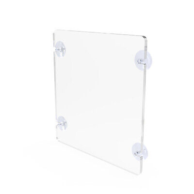 8.5x11 Acrylic Sign Menu Picture Photo Poster Frame Suction Cup Picture Frame