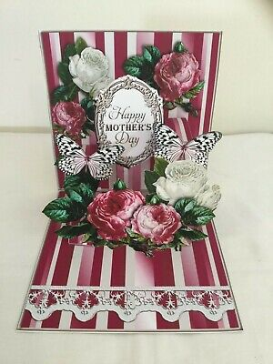 Handmade Mother's Day Pop up Card Red Rose