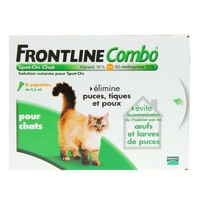 Frontline combo  spot-on chats 3 pipettes de 0,5ml