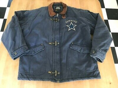 online retailer e03d2 03a98 DALLAS COWBOYS MIRAGE Authentic Jacket Coat Rare Nfl Xl Distressed Vintage  Heavy