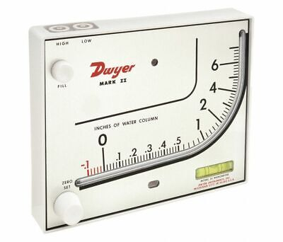 Mark II 26 Manometer 0 to 7 In WC Dwyer Instruments