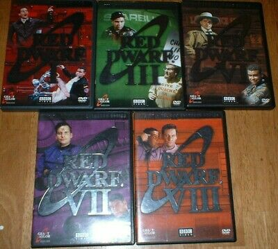 Red Dwarf DVD Lot Series official copies 1, 3,4,6,7, like new rare ,ships free