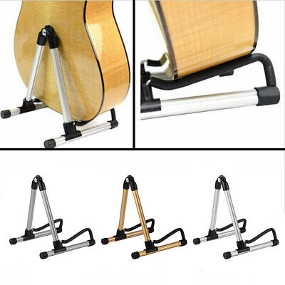 Electric Acoustic Bass Portable Folding Guitar Stand Floor Rack Foldable Holder