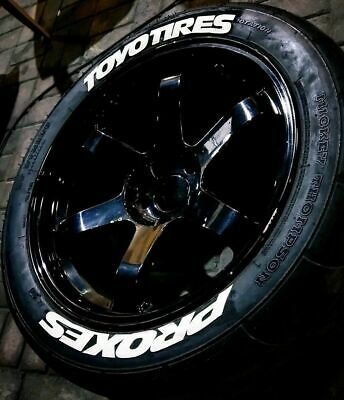 """Toyo tires Proxes permanent tyre Lettering Stickers 14""""-22"""" Decal 1""""1.25""""1.5"""""""