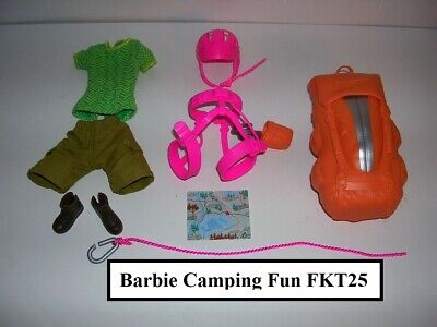 Barbie Doll Made to Move Camping Fun Hiking & Rock Climber Clothes Outfit & Gear