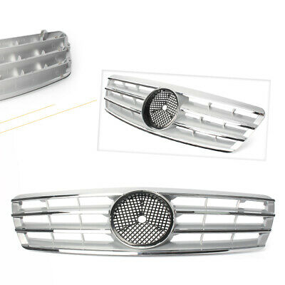 Front Grille Grill Chrome ABS Fit Mercedes Benz W203 C230 C320 C240 2001-2007 ha