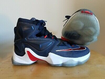 buy popular 0e16d 82e75 Nike Men s LeBron XIII 13 Midnight Navy Red White USA - Size 8.5
