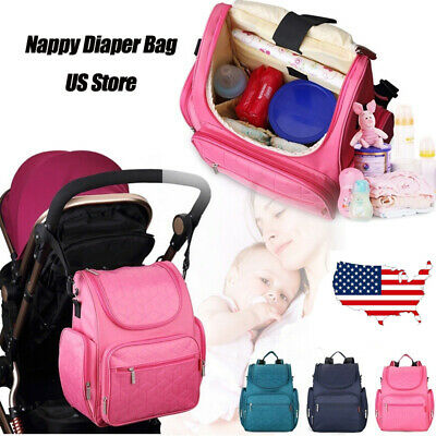 Mummy Maternity Baby Nappy Diaper Bag USB Large Capacity Travel Backpack Handbag