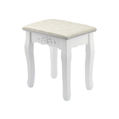 Vintage Stool Dressing Table Piano Chair White Decor Padded Makeup Seat UK