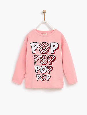 Zara girls 🍿 PopCorn 🍿 sweatshirt with slogan 5 years