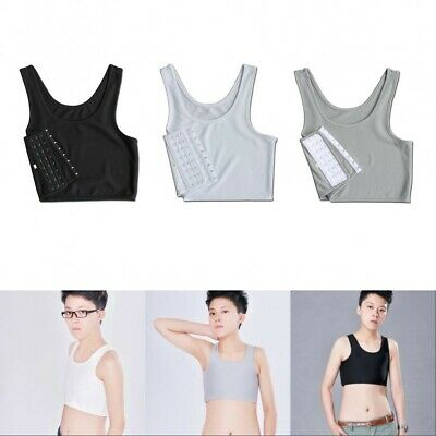 UNISEX Short Chest Breathable Buckle Binder Trans Lesbian Cosplay Breast Vest