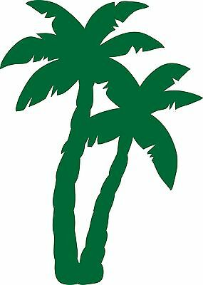 Window Wall Car Display Retro Palm Tree Silhouette Decal Vinyl Sticker Craft 001