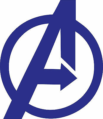 80s super Hero The Avengers Logo Decal Vinyl sticker window wall vehicle display