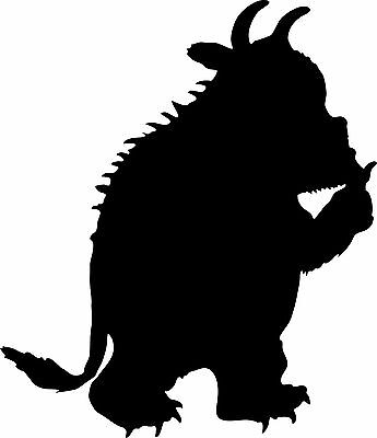 Window Wall Display The Gruffalo Monster Silhouette Decal Vinyl Sticker