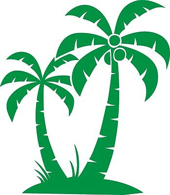 Window Wall Car Display Retro Palm Tree Silhouette Decal Vinyl Sticker Craft 002