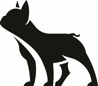 A4 french bull silhouette dog vinyl decal stickers multi car glass mirror wall