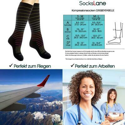 Cotton Compression Socks For Women. Ladies Support Stockings For Nurses Travel F