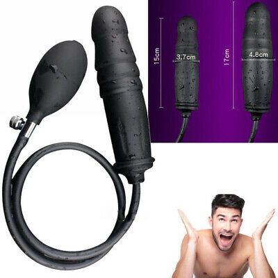 Sex-Inflatable-Anal-Dildo-Butt-Plug-Penis-Pump-Bigger-Huge-Male-Gay-Couple-Toys