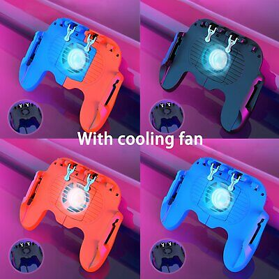 New H6 PUBG Mobile Game Controller Gamepad Joystick Fire Trigger W/Cooling fan