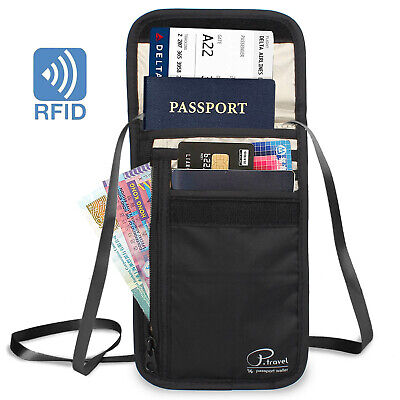 Travel Wallet Family Passport Holder RFID Anti thelf Document Organizer Bag Case