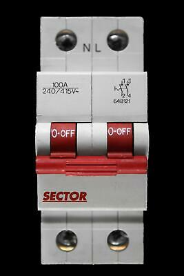 Sector 100 Amp Double Pole Main Switch Disconnector 648121