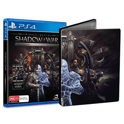 NEW Middle-earth: Shadow of War Steel Case Steelbook PlayStation 4 PS4