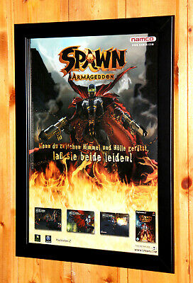 2003 Spawn Armageddon Small Poster / Vintage Ad Page Framed PS2 GameCube Xbox