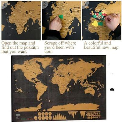 Waterproof Scratch Off Travel World Map Poster Log Giant Map Of The World