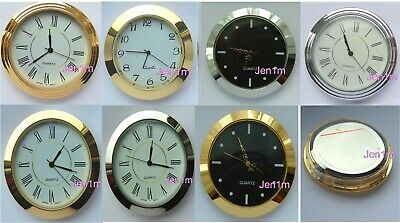 """55mm fit 50 or 1,31/32"""" hole/ Clock /Watch Insert & free spare battery"""