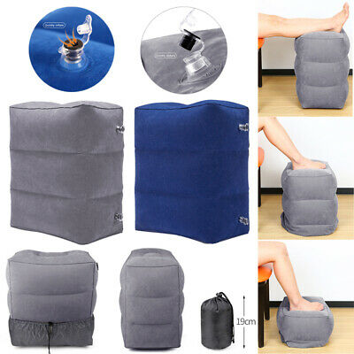 Portable Inflatable Travel Footrest Leg Foot Rest Pillow Cushion Air Pad Kid Bed