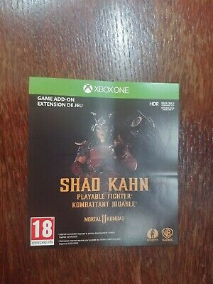 Xbox One Mortal Kombat 11 Shao Kahn playable fighter DLC code