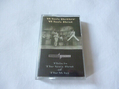 The Who ~ Who's Better Who's Best ~ Very Best Of ~ 1988 Uk Rock Cassette Tape