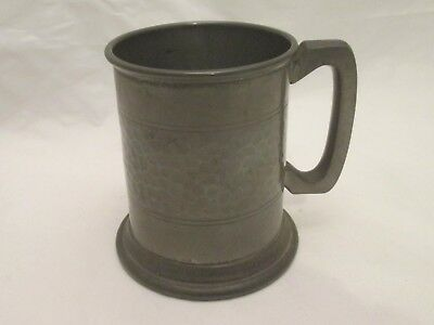 A Fine Vintage Pewter Half Pint Tankard with Glass Bottom