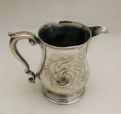 A Small 19th Century Silver Plated Milk Jug - Engraved - Martin Hall & Co