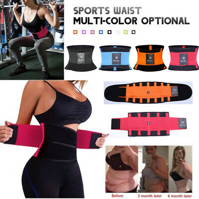 US Xtreme Power Belt Slimming Sweat Thermo Sport Abs Body Shaper Waist Trainer