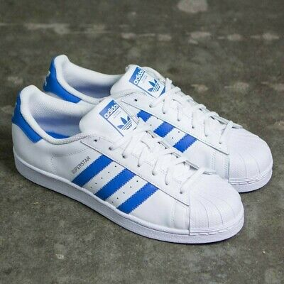 10375ced6 Adidas Originals Superstar Trainers Men s Leather Shoes - White   Blue -  S75929