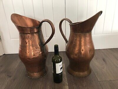 French Vintage Very Large Copper Jug/Pitcher 50cm Tall (2 Available)