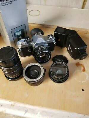 Pentax MX 35mm SLR with extras