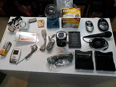 Electronic Junk Drawer Lot Dell Apple Vintage  hdmi Cables Elecromatic Toy More