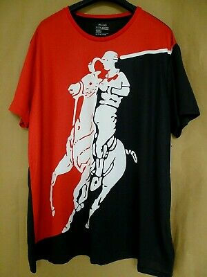 NEW Polo Ralph Lauren Mens Stadium Performance T-Shirt Big pony Jersey Red/Black