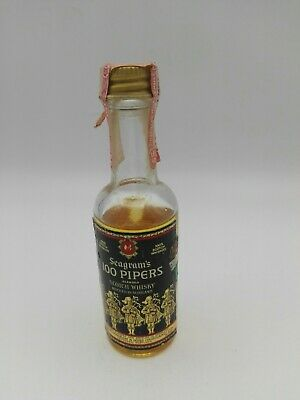 Mignon miniature minibottle Whisky Seagram's 100 Pipers (l)