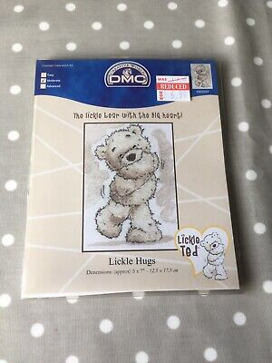 DMC Cross Stitch Kit ~ Lickle Ted ~ Lickle Hugs