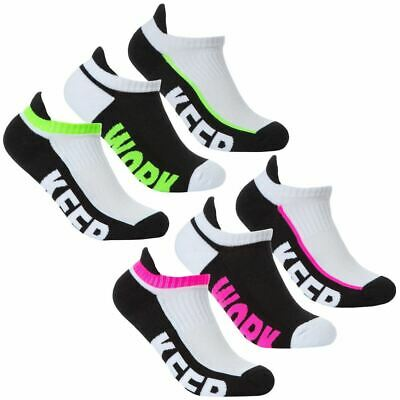 Ladies Girls 3-6 Packs Socks Trainer Liners With Arch Support COTTON RICH UK 4-7