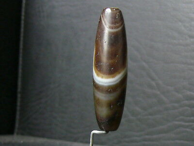 (eV061) Tibet   Old Natural DZI  GZI Agate Bead